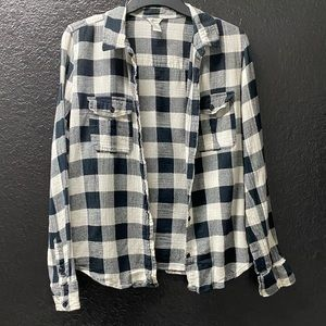 Forever 21 Black and White Medium Flannel